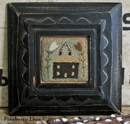 Little Brown House Needle Punch & Applique E-pattern