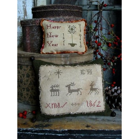 Elizabeth Hammond's Christmas Sampler Pillow E-pattern