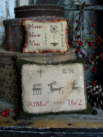 Elizabeth Hammond's Christmas Sampler Pillow