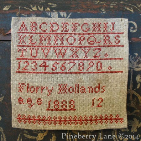 Florry Hollands 1888 E-pattern