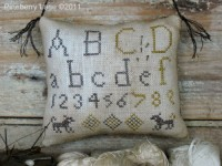Little Dog Marking Sampler Pinkeep E-pattern
