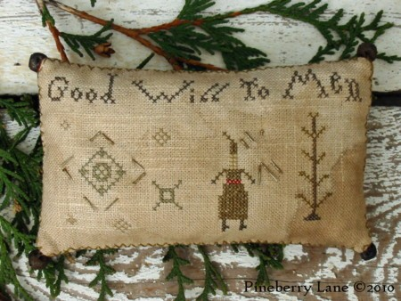 Peace on Earth Good Will to Men Pinkeeps E-pattern
