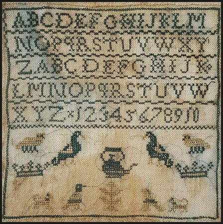 Teapot Marking Sampler
