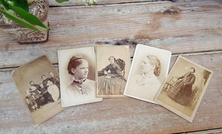 Lot of 5 Small Cabinet Cards