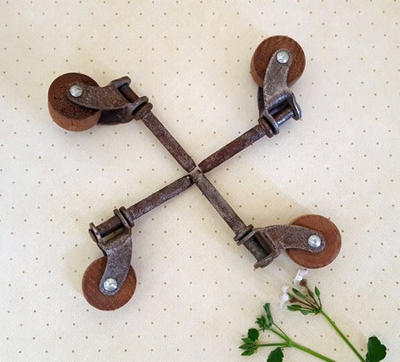 Lot of 4 Old Caster Wheels
