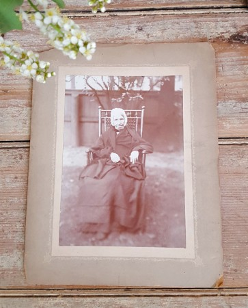 Old Photo of Sweet Elderly Lady in Chair
