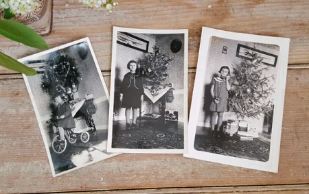 Lot of 3 Vintage 1930s Christmas Photos