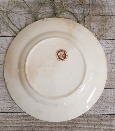 Late 19th Century Brown Transferware Plate