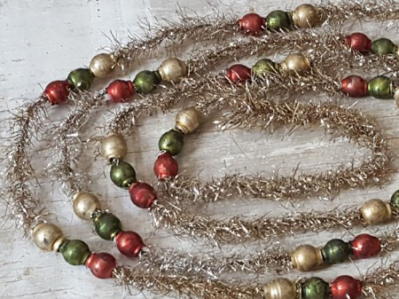Tinsel and Glass Bead Garland