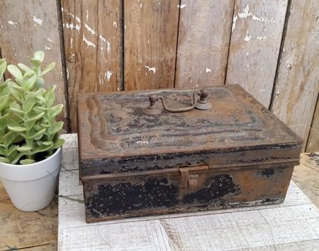 Old Black Tin Box