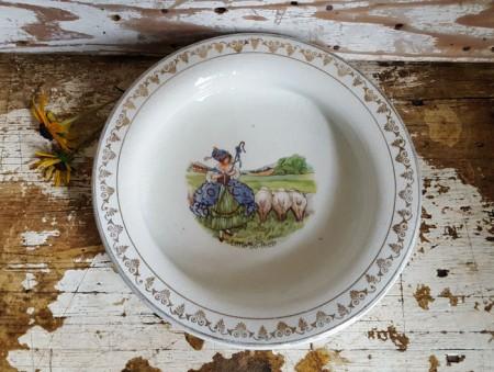 Sweet Little Bo-Peep Antique Child's Dish