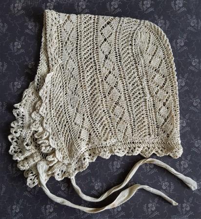 Early Crocheted Lace Bonnet