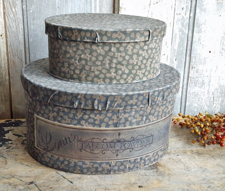 Pair of Calico Covered Boxes***