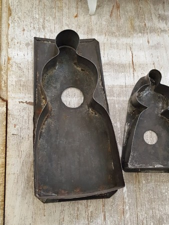 Sweet Trio of Tin Lady Cookie Cutters