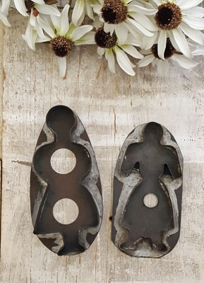 Pair of Tin Lady Cookie Cutters