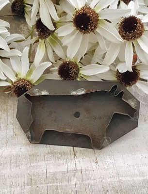 Folky Tin Pig Cookie Cutter