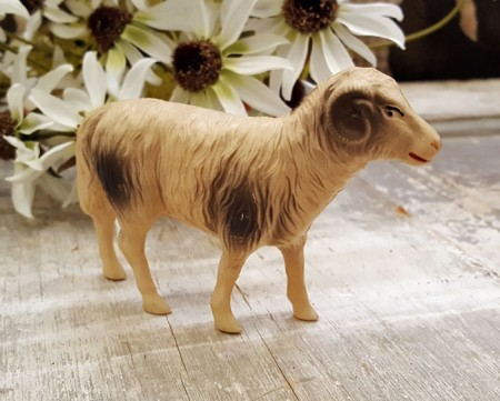 Celluloid Putz Ram or Sheep