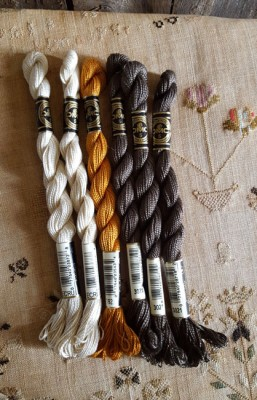 Lot of 6 DMC Pearl Cotton Skeins