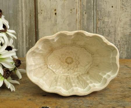 Pretty Ironstone Food Mold - Floral Design