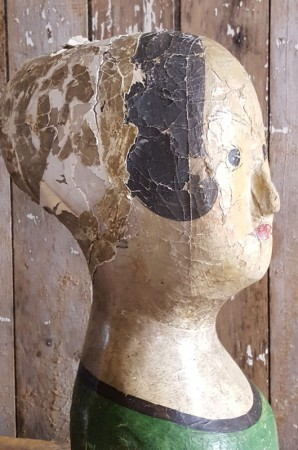 RARE Old French Milliner's Head