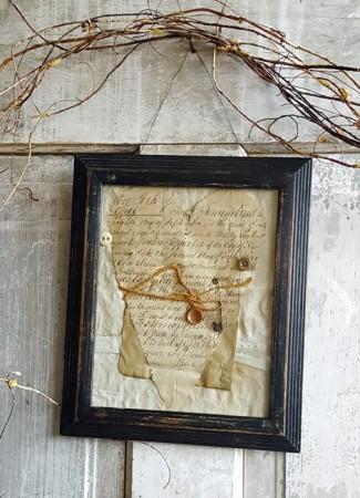 Netty LaCroix Framed Paper Heart #1***