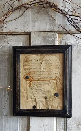 Netty LaCroix Framed Paper Heart #2***