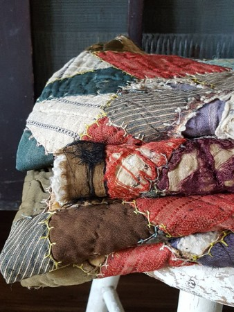 Old Calico Quilt Sections