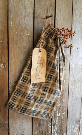 Netty LaCroix Large Plaid Seed Bag
