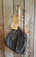 Netty LaCroix Black Gingham Seed Bag