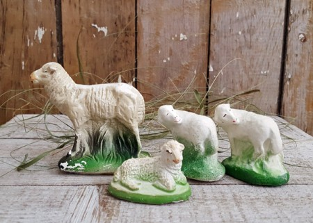 Chalkware Sheep - Flock E
