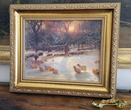 Framed Sheep Print