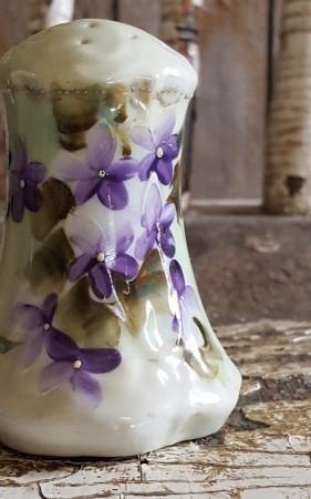 Vintage Violet Salt & Pepper Shakers