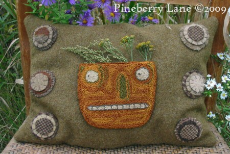 Harvest Gatherings Pumpkin Pillow