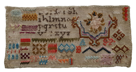 Small Colorful Woolwork Sampler - SOLD