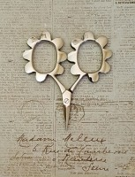 Flower Power Scissors - Silver