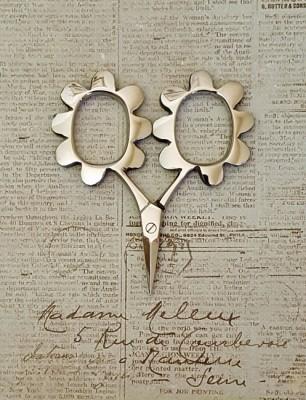 Flower Power Scissors - Silver